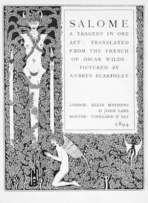 Beardsley, Salome frontpeice