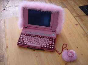 feminine laptop bling